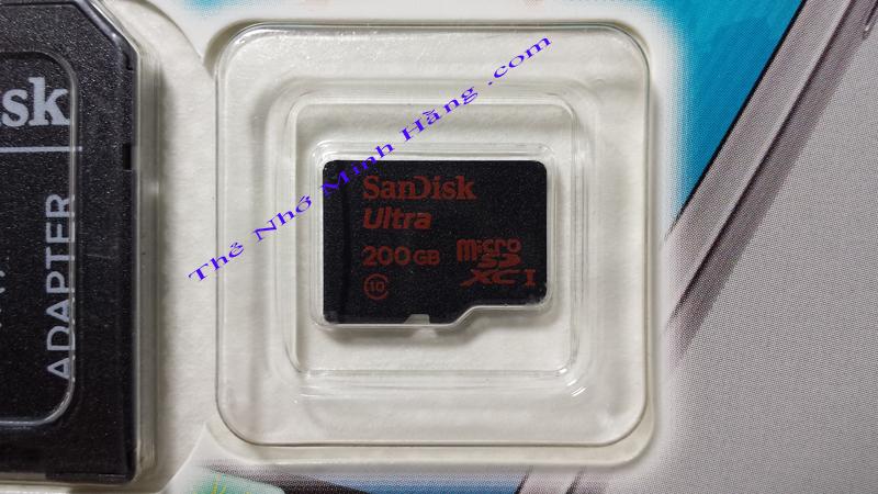 THẺ NHỚ 200GB Sandisk Ultra MicroSDXC (Class 10) ĐƯỢC BẢO